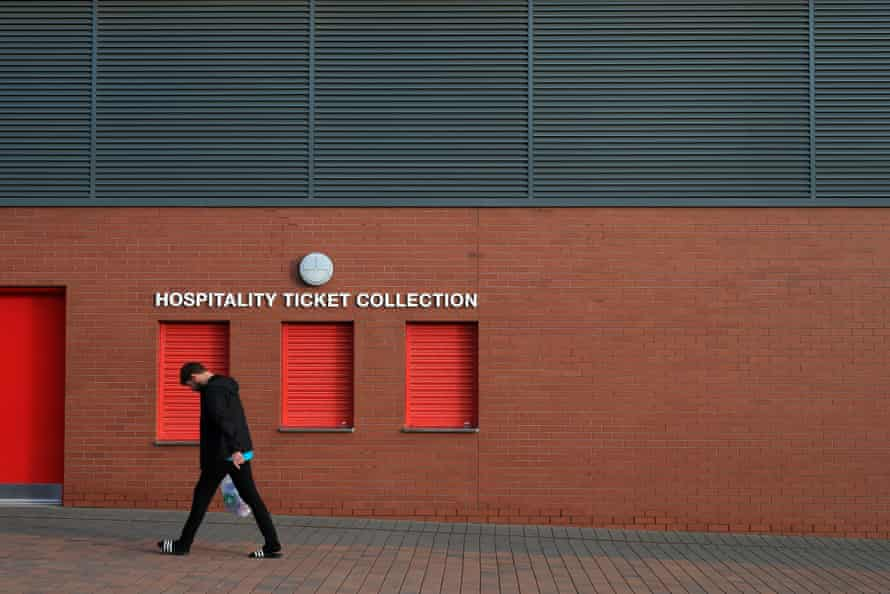 Hospitality ticket collection windows are closed at Anfield after the Premier League was paused in March.