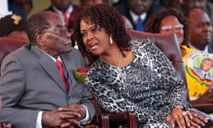 Robert and Grace Mugabe. Few think the president's wife will succeed him