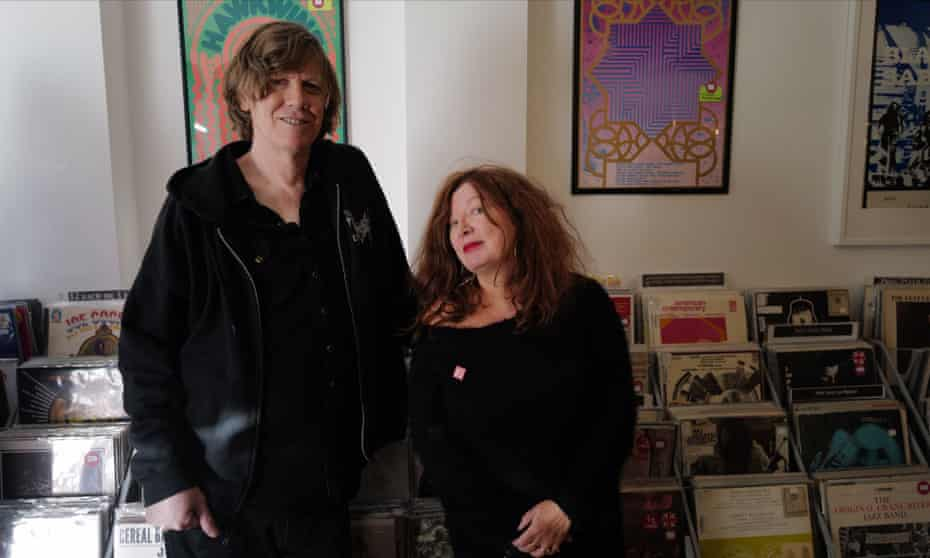 The joy of hanging out … Thurston Moore, left, and Suzanne Moore in the former's pop-up record store.