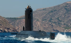 A Spanish navy submarine arrives at the port of Cartagena. The new model, the S-80 Plus, is an 81-metre, 3,000-ton boat