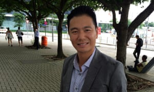 One of the rising stars of Hong Kong's pro-Beijing party Holden Chow.