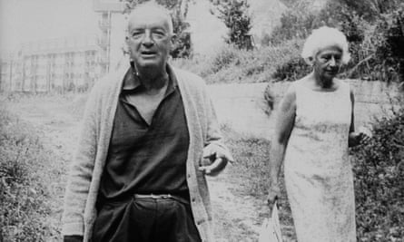 Vladimir Nabokov with his wife, Véra, on holiday in January 1965.