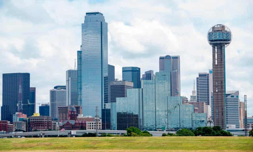 The skyscrapers of Dallas.