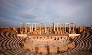 Leptis Magna, 75 miles east of Tripoli.