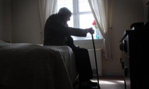 Elderly man at home