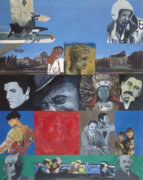 It's a Man's World I, 1964, oil on canvas with collage, by Pauline Boty.
