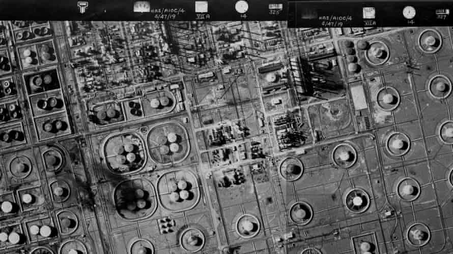 Aerial photographs of Iran taken in 1947 by Hunting Aerosurveys of Bond Street for the Anglo-Iranian Oil Company. Still from film.
