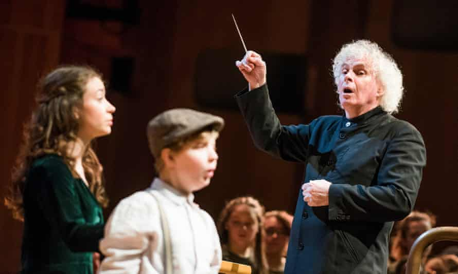 Conductor Simon Rattle, who proposed the scheme for the London Concert Hall.