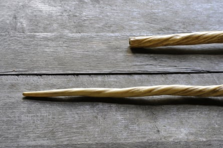 'Unicorn' horns made from 13th–15th century narwhal tusks