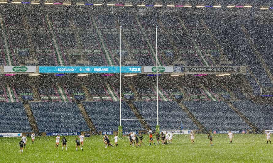 Scotland battle England in the snow this month.