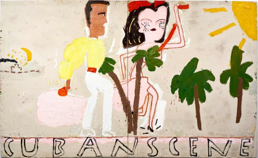Simplified but authentic … Cuban Scene, Smoke by Rose Wylie.