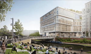 A render of Google's new London headquarters in King's Cross.
