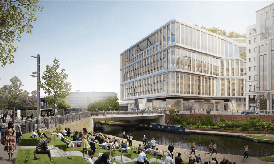 The building is located in the middle of a major redevelopment of the area by the Regent's canal.