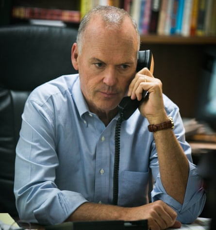 Actor Michael Keaton in Spotlight (2015)
