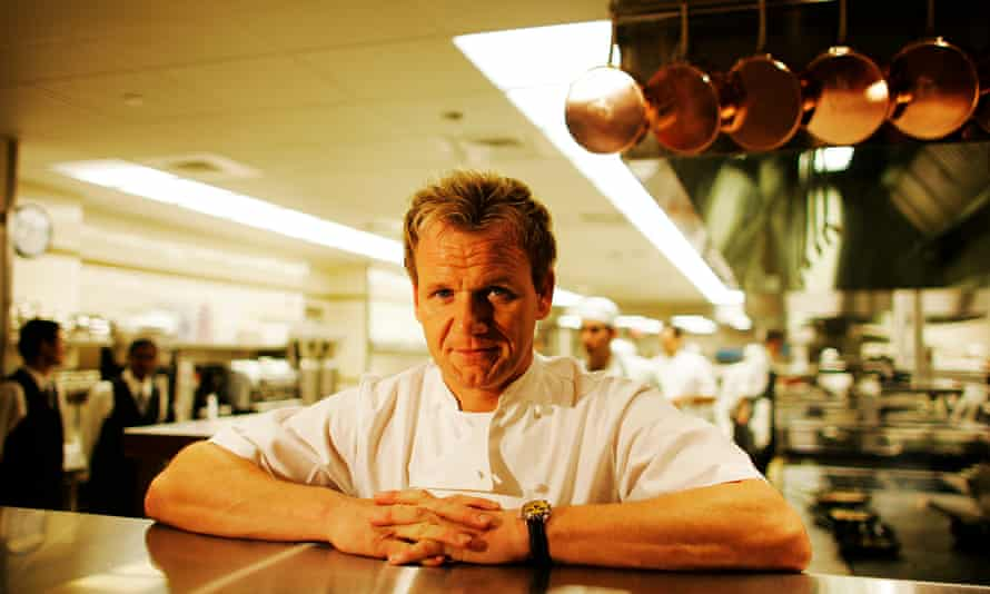 Chef Gordon Ramsay at one of his restaurants in New York.