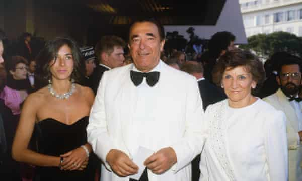 Ghislaine, Robert and Elizabeth Maxwell.