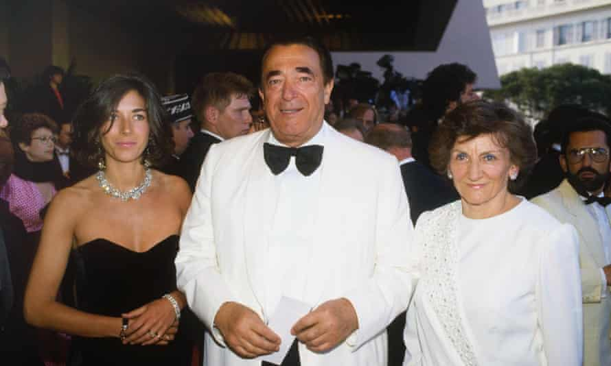 From left: Ghislaine, Robert and Elisabeth Maxwell at Cannes in 1987.