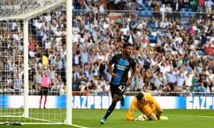 Emmanuel Bonaventure is flagged offside after finding the Real Madrid net, but the goal was awarded after a VAR review