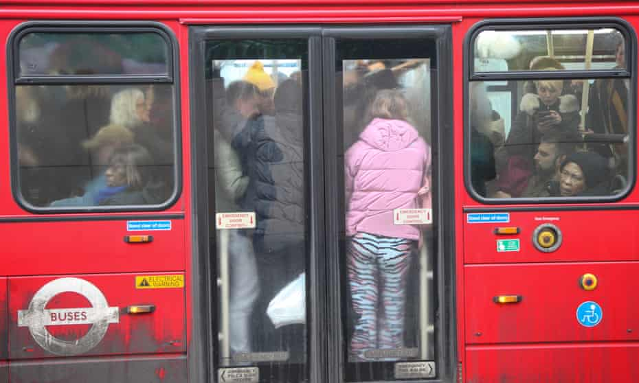 packed London bus