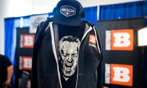 The late founder of Bretibart News, Andrew Breitbart, is seen on a T-shirt at CPAC. Like countless other sites on the cluttered web, Breitbart's sports page just yells to its choir.