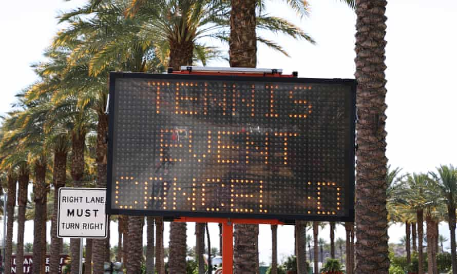 The high-profile Indian Wells event in California was cancelled this week and many more tournaments between March and May are now expected to follow.