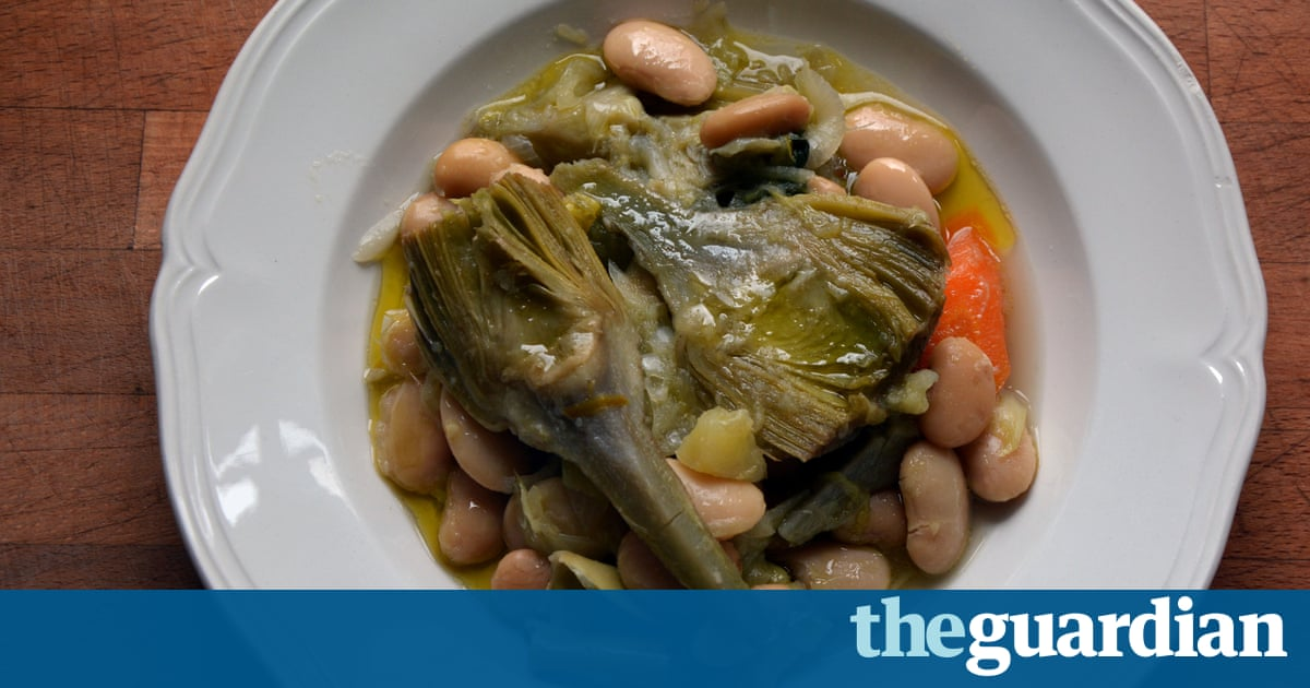 Rachel Roddy's recipe for braised artichoke and butter beans | A kitchen in Rome