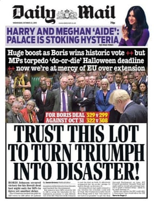 Daily mail front page 23.10.19