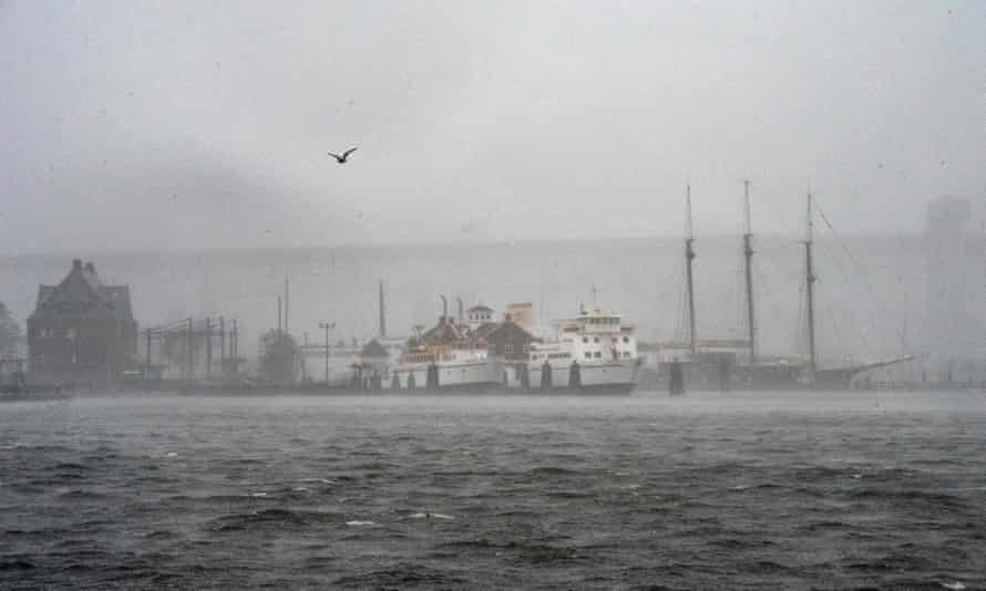 Tropical Storm Henri in New London, Connecticut on 22 August.