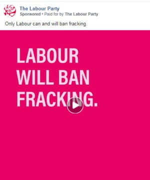 Screenshot of an advert from the Labour Party which shows who it is paid for by