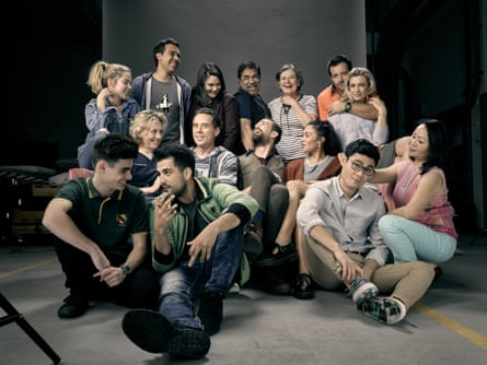 The cast of ABC serial drama The Heights.