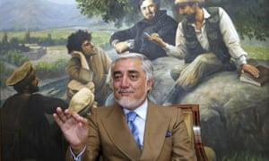 Abdullah Abdullah at his home in Kabul