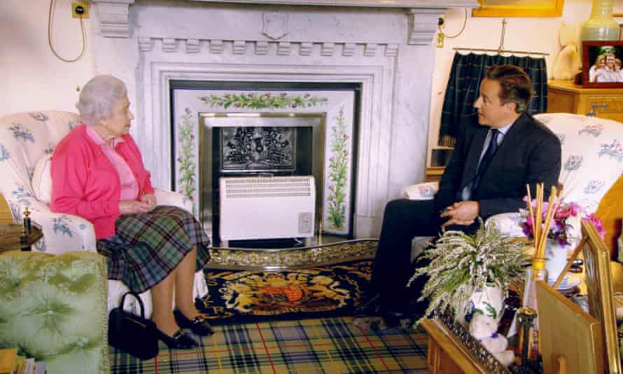 Fireside chat … the Queen and David Cameron in a scene from Our Queen, which was pointedly given to ITV.