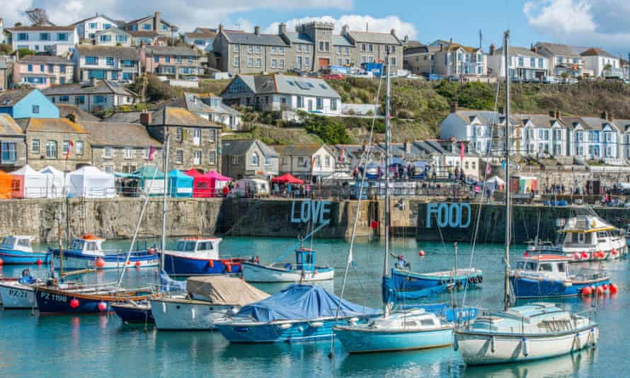 Porthleven and its inner harbour.