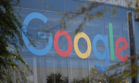A Google logo in Mountain View, California