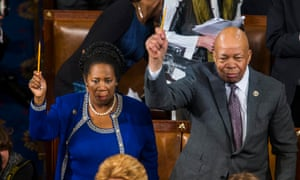 Democratic congresswoman from Texas Sheila Jackson Lee and her counterpart from Georgia John Lewis