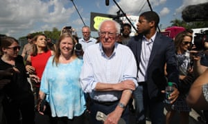Bernie and Jane Sanders on the campaign trail in Florida in June.