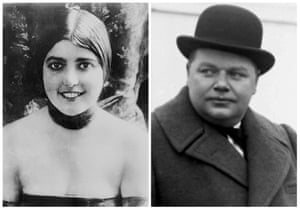 """Virginia Rappe and Roscoe """"Fatty"""" Arbuckle."""