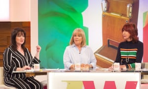 Linda Robson (centre) with Coleen Nolan (left) and Janet Street-Porter on Loose Women.