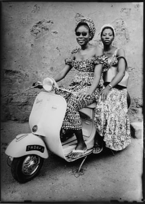 Untitled, 1952-1955 Two women on a Vespa scooter