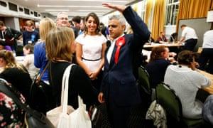 Sadiq Khan hoped Labour's vote would be higher.