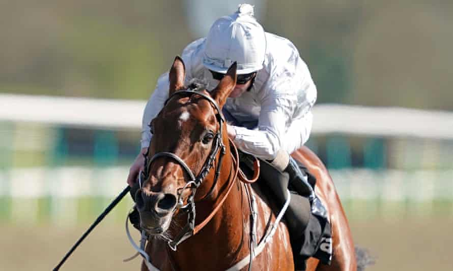 Joe Fanning rides Matterhorn to success in the Easter Classic at Lingfield.