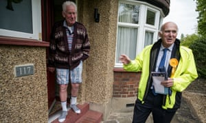 Vince Cable canvasses in his constituency.