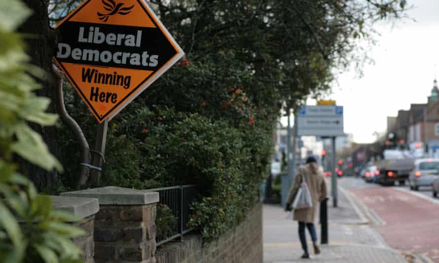 Lib Dem sign in Richmond.
