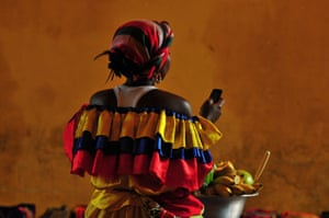 A lady in traditional dress, Cartagena