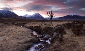 Rannoch Moor in the Scottish Highlands