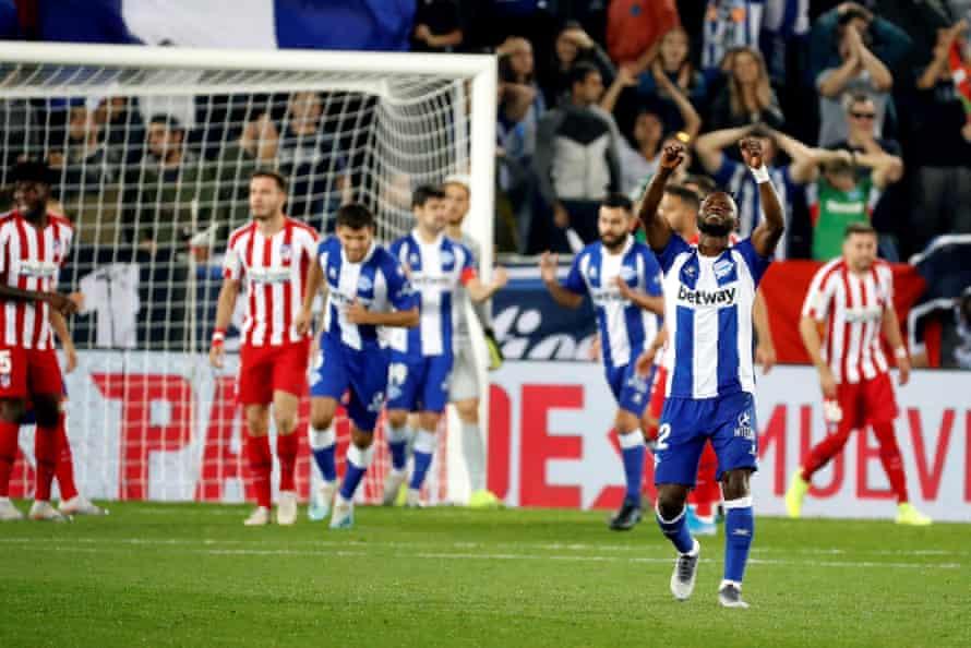 Wakaso Mubarak after Alavés grabbed a draw against Atlético.