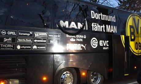 Borussia Dortmund v Monaco Champions League fixture postponed after explosions –video report