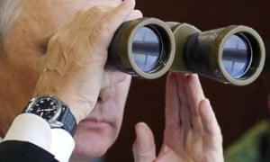 Vladimir Putin observes the Zapad military training exercises in Belarus.