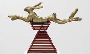Hare today... Barry Flanagan: leaping hare, embellished, 2/3 jan '80.