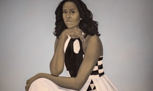 Portrait of Michelle Obama at the National Portrait Gallery in Washington.